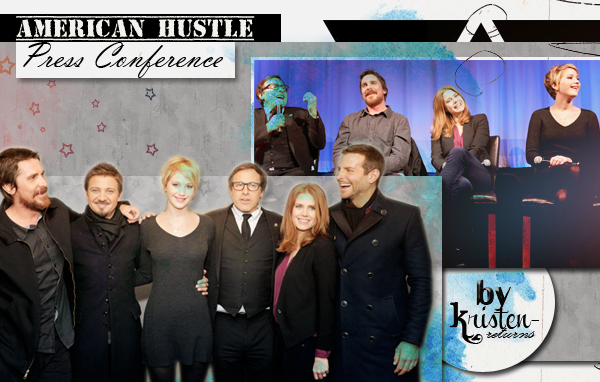 ● ● ☼ American Hustle New York Press conference