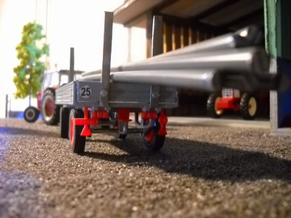Sortie des tuyaux d'irrigation et du moteur avec le 624