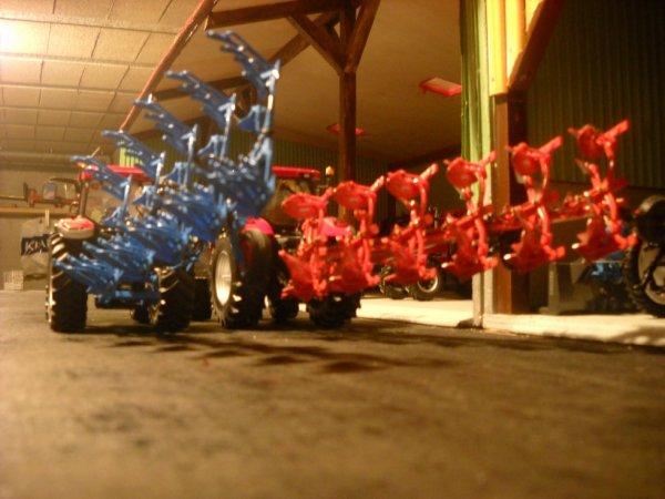 Case IH mx 150 avec la charrue Lemken Juwel 8  5 corps     Case IH puma cvx 230 avec la charrue Kuhn Vari-master 182  6 corps