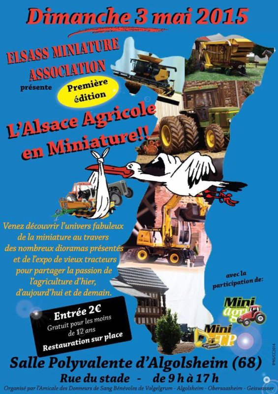 EXPOSITION DE MINIATURES AGRICOLES A ALGOLSHEIM CE DIMANCHE LE 3 MAI 2015