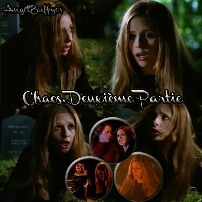 Episode 2 Saison 06 - Chaos, Deuxième Partie  Le sortilège de Willow a porté ses fruits, mais l'arrivée des démons-bikers n'a pas permit à l'équipe de s'en rendre compte. En effet, cette dernière à dû se disperser pour éviter la horde qui ravage tout sur son passage. Hagarde, Buffy erre dans une ville méconnaissable.