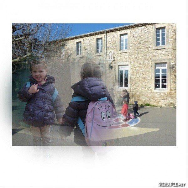 Lundi 6 janvier..Première rentrée à la maternelle pour Juliette.