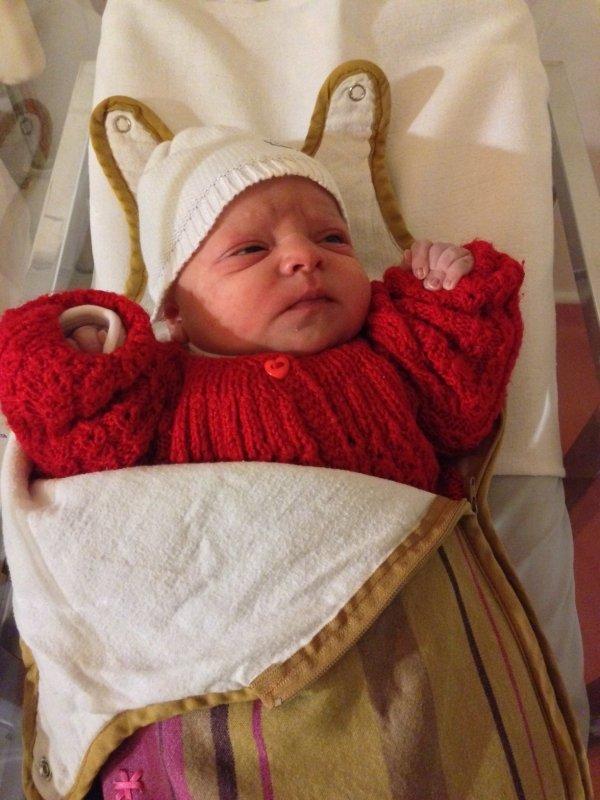Une petite Jeanne est née ce 15 Février..Ce qui fait mon 70 ème .petit neveux.