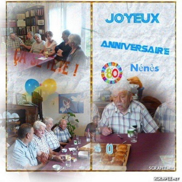 De bonne heure ce matin...Nous fêtons les 80 ans de Nénès.