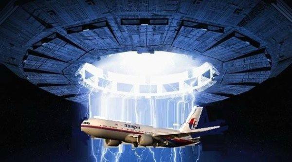 SCOOP. L'avion de la compagnie Malaysia Airlines a été avalé par un vaisseaux venue d'ailleur géant