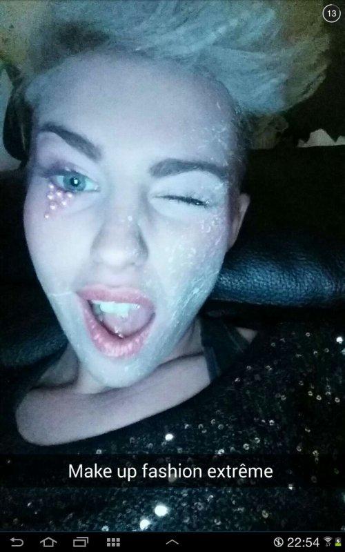 Maquillage de Justine Cyrus