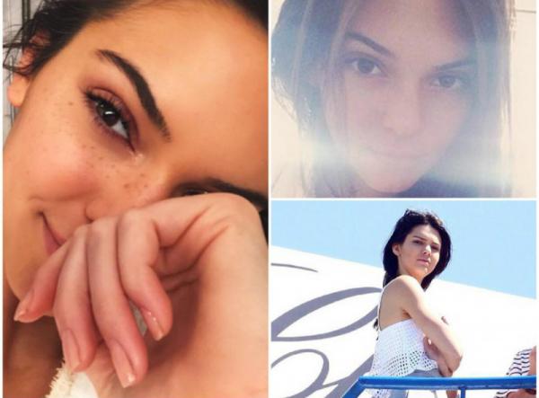 Kendall Jenner au naturelle