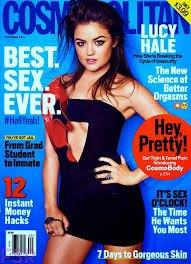 Lucy Hale qui pose pour Cosmopolitan