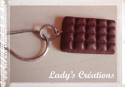 Pendentif : Plaque de chocolat