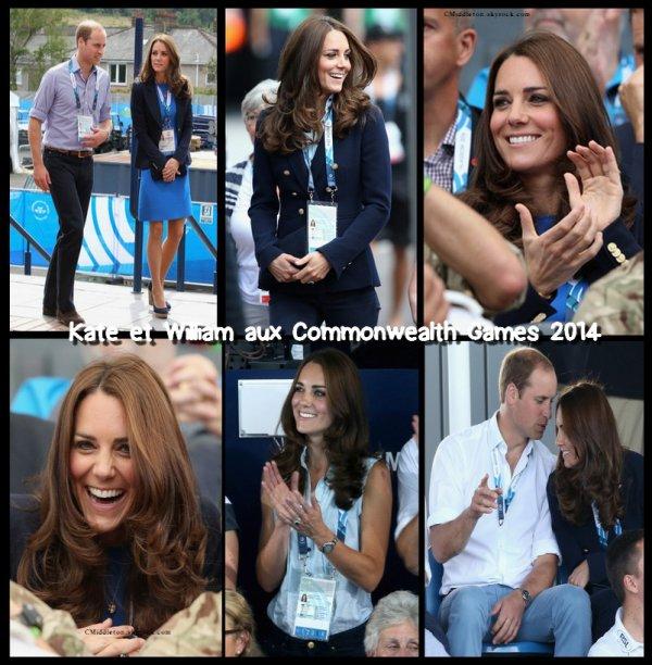 28.07.2014 ~ Kate et William à Hampden Park pour le sixième jour des Commonwealth Games à Glasgow en Ecosse.