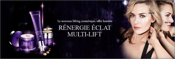 """-- 04/03/12 Publicité pour la gamme  """" Rénergie """" de Lancôme.    --"""