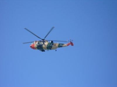 Août 2011. Hélicoptère.de l'armée........