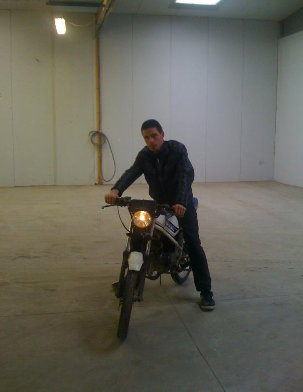 Moi avec  ma Honda