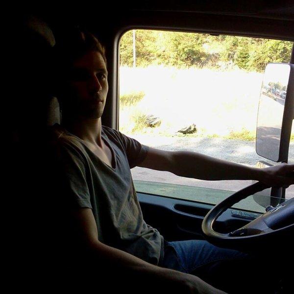 Moi en Camion Mercedes-Benz Actros