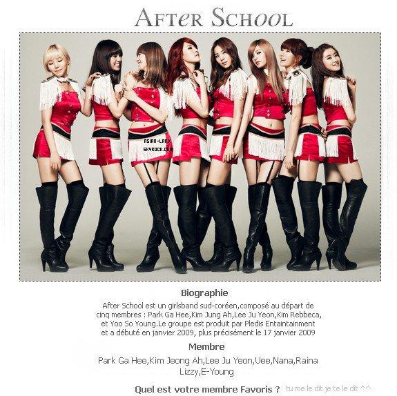 . SNSD - After School.
