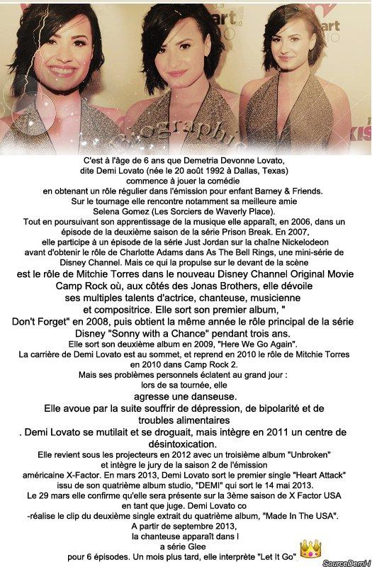 Biographie de Demi♥