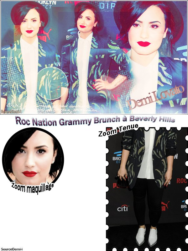 Demi au Roc Nation Grammy Brunch à Beverly Hills♥