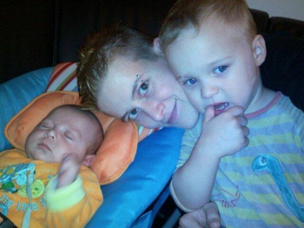 moi et mes deux neveus