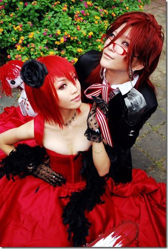 Cosplay - Mme Red & Grell Sutcliff ( Black Butler, Kuroshitsuji )