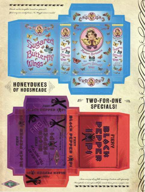 Paper props Harry Potter : Article 1 : Honeydukes ( partie 2 )