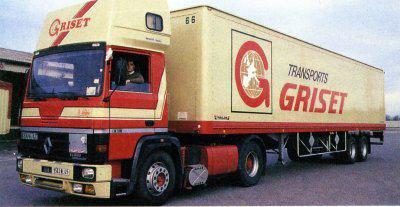 Passage aux Transport griset a vernaison dans le Rhône.. Embauché comme chauffeur pl en messagerie dans la région Rhône alpe... J ai appris a connaitre le boulo et la région..  De juin 1992 a mai 1996...rachetés en 2014  par Malherbes..