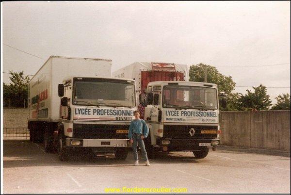 Différentes photos des camions de mon frère aîné qui a toujours eu la passion des camions et en conduits depuis sa sortit du lycée professionnel de Montélimar 26.. En juin1988.vous pouvez le suivre sur fier d être routier.com