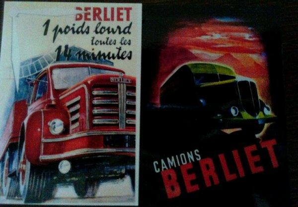 PUB BERLIET !!! CARTE POSTALE COMMANDÉES SUR DELCAMPE !! REÇU CETTE SEMAINE!!