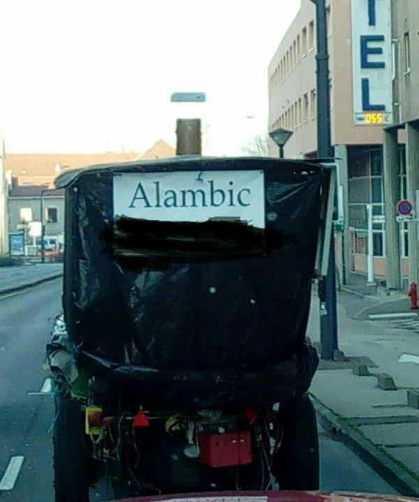 L'ALAMBIC   EN DÉPLACEMENT !!!