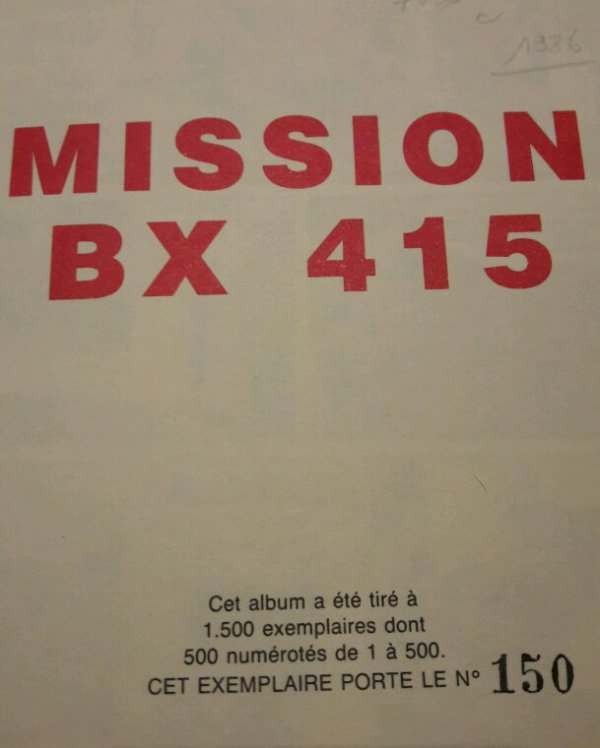 BD MISSION BX 415 SÉRIE LIMITÉE !!!