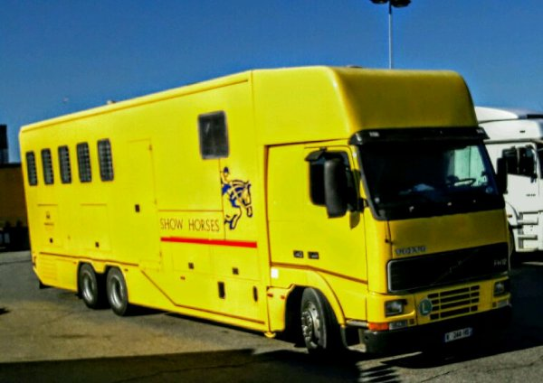 THE YELOW VOLVO FH 340   VAN !!
