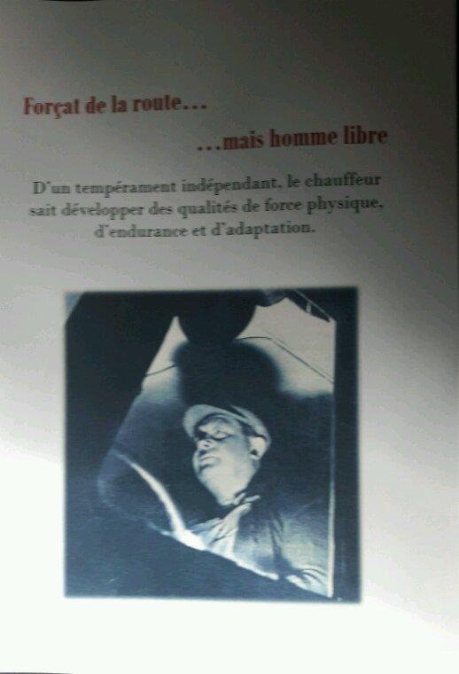 FASCICULE LES HOMMES DE LA ROUTE  AVEC UNE BELLE  CITATION PHILOSOPHIQUE DES ROUTIERS DES ANNÉES  50 /70 !! ACHETÉE À LA FONDATION !!