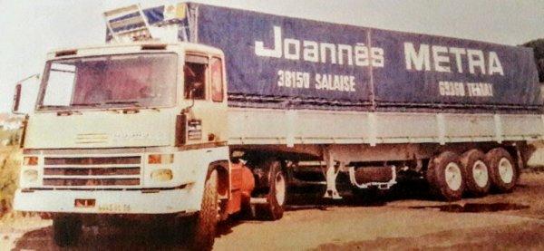 TRANSPORT JOANNÈS MÉTRA  38 SALAIZE SUR SANNE !!  UN ANCIEN TRANSPORTEUR  D'À CÔTÉ DE CHEZ  MOI !!