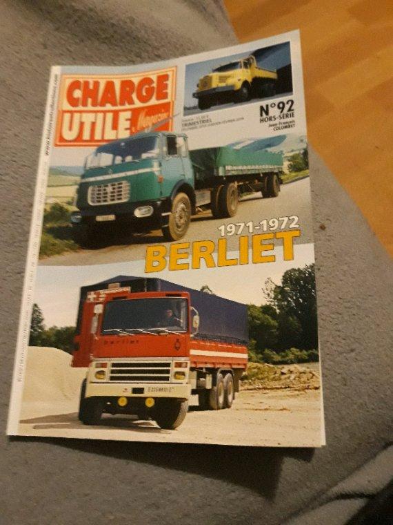 CHARGE UTILE HORS SÉRIE N°92 BERLIET 1971-1972!!