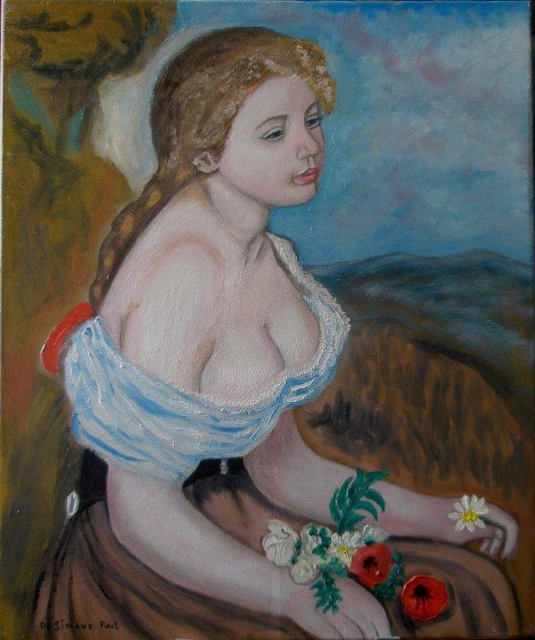 Gaby d'Auguste Renoir reproduction huile