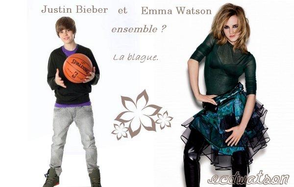 """21. august. . . « Ça montre qu'elle a les pieds sur terre. » . . Justin Bieber, la """"star"""" du moment, adoré par des millions de filles, avoue vouloir sortir avec Emma Watson. . « J'aimerais sortir avec elle pour dîner. Ce serait formidable si elle pouvait venir à un de mes concerts, nous pourrions passer du temps ensemble par la suite. J'aime le fait qu'elle soit une des plus grandes stars féminine du cinéma, mais qu'elle ait choisit de retourner faire ses études. Ça montre qu'elle a les pieds sur terre. » . . Ha, c'est beau de rêver."""