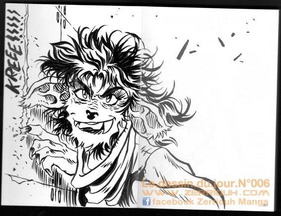 Le dessin du jour ! ^_^ Grrr !!!! by zerriouh