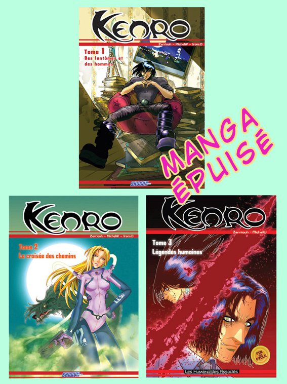 Kenro Manga (épuisé...pour le moment !!!!!!! ) ^_^