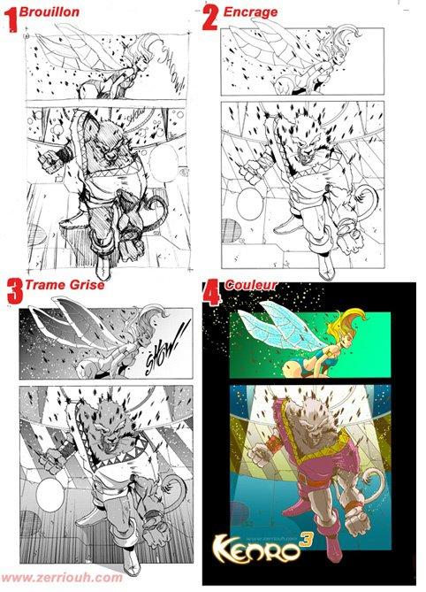 Kenro manga : étapes de travail !! ^_^