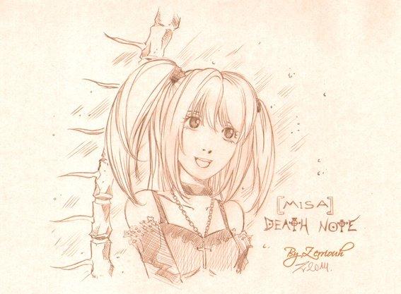 """""""MISA"""" Death Note !!!!! Rendez-vous Vendredi prochain pour un nouveau dessin.!!!!"""