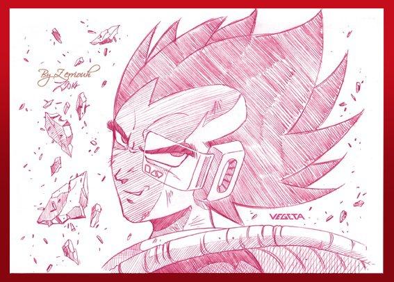 """""""VEGETA"""" Dragon Ball Z ! Rendez-vous Vendredi prochain pour un nouveau dessin!!!!!"""