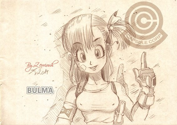 """""""BULMA"""" Dragon Ball !!!!! Rendez-vous Vendredi prochain pour un nouveau dessin!!!!!!"""