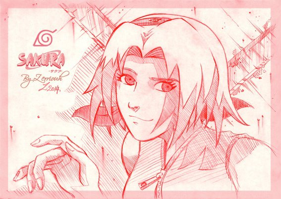 "NARUTO ""Sakura"" Crayon !!!!!!! ^_^...! Rendez-vous Vendredi prochain pour un nouveau dessin"