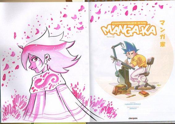 """Dédicace du jour N°1 !!!!!!! ^_^ sur BD """"Chroniques d'un Manga-Ka"""" !!!!!!!!!!!!!"""