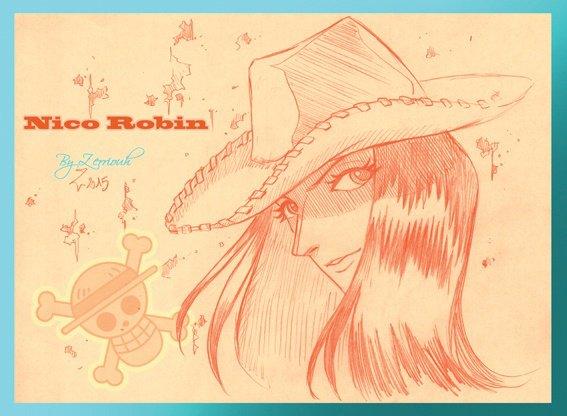 """""""Nico Robin"""" One Piece !! Dessin du Vendredi !!!!!!!"""