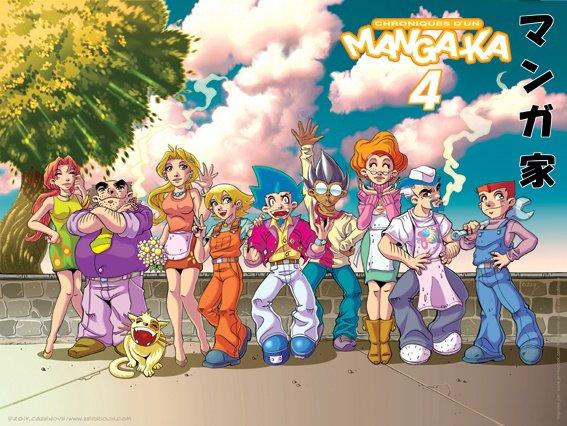 Affiche A3 Chroniques d'un Manga-Ka, Zerriouh Cazenove !!!!!!!!  ^_^