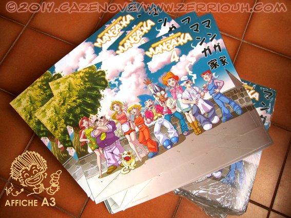 Reçu par la Poste  ! ^_^ Manga-Ka affiche A3! ::!!!!!