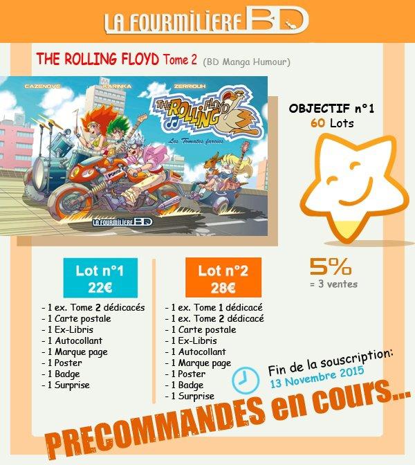 Précommande de ma BD The Rolling Floyd T2...C'est PARTI !!! ^_^