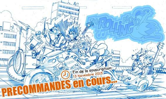 Crayonné Bleu de ma Couv The Rolling Floyd Tome 2 !!!!! ^_^