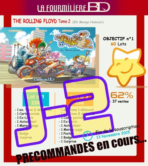 J-2 avant la fin de la précommande The Rolling Floyd tome2 !! ^_^