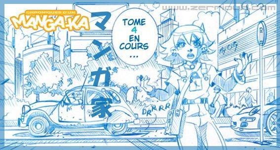 Crayon bleu Mangaka T4 en cours... ^_^ !!!!!!!